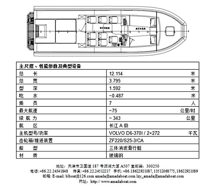 1160c(黑 河)三体消波海事艇