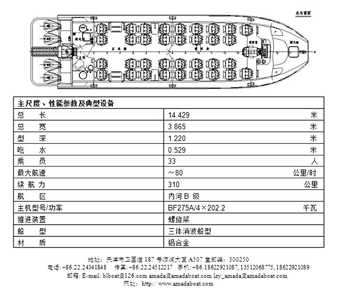 1305(金熊)浅水消波高速交通艇