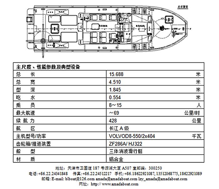 1500b(永安)三体消波消防救助艇