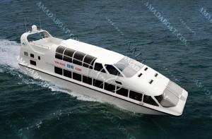 3A1980(银 梭)三体消波客船