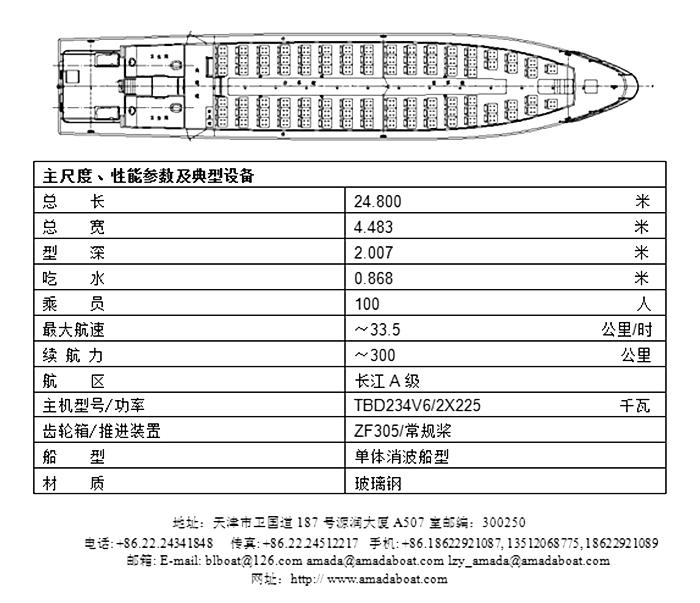 2400(仙岛)100客经济型消波客船