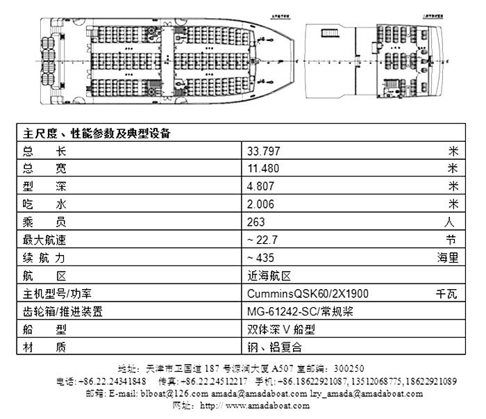 3380(丹 霞)双体高速客船