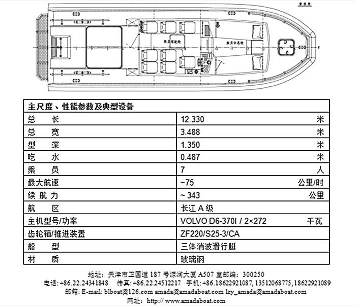 3A1174c(虎 翼)三体消波巡逻艇1
