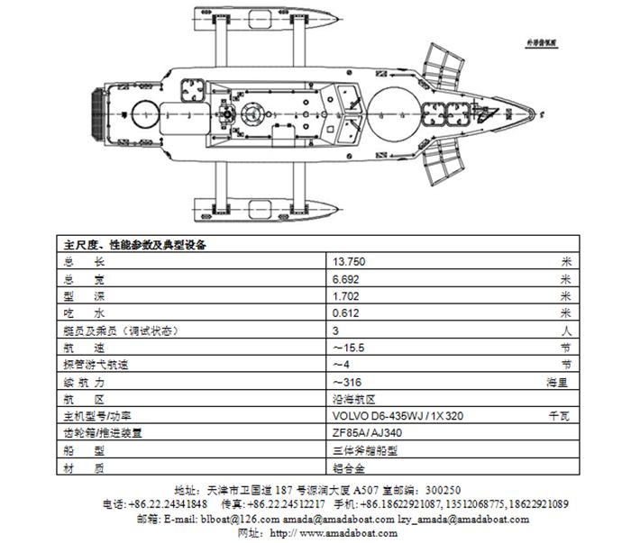 3A1335(智 探I)智能无人探管艇2