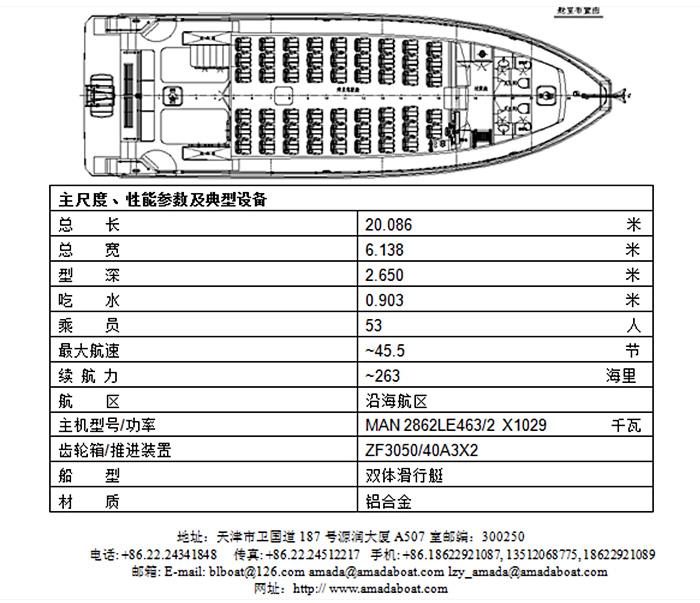 3A1955b(南海Ⅱ)双体高速观光船