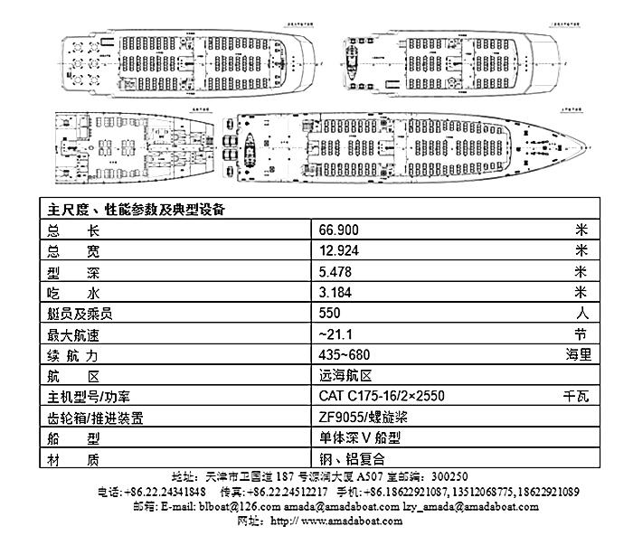 6690(南海公主)550客远海观光客船