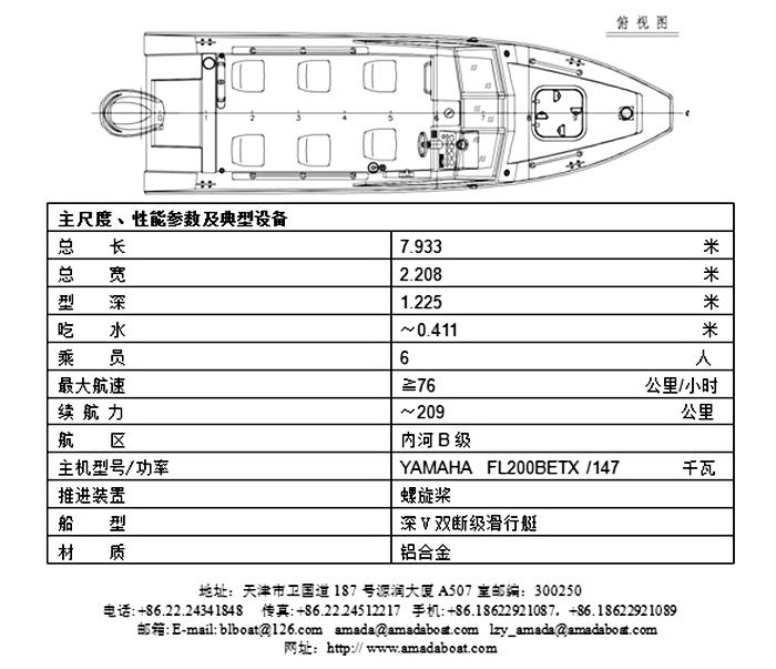 722(驯狼)铝合金武警巡逻艇2