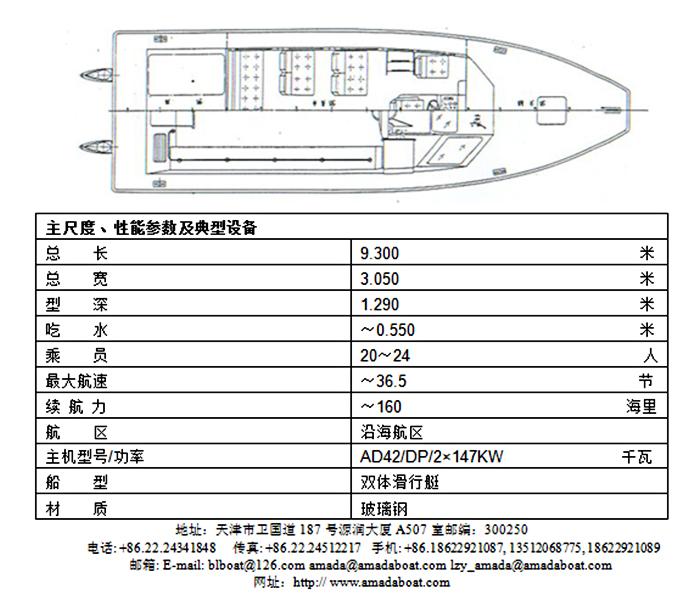 930(荆江)双体高速补给艇